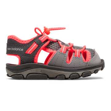 New Balance Adirondack Sandal, Grey with Coral