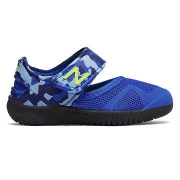 New Balance 凉鞋208系列 小童 日本研发 舒适透气 学步优选, 迷彩蓝