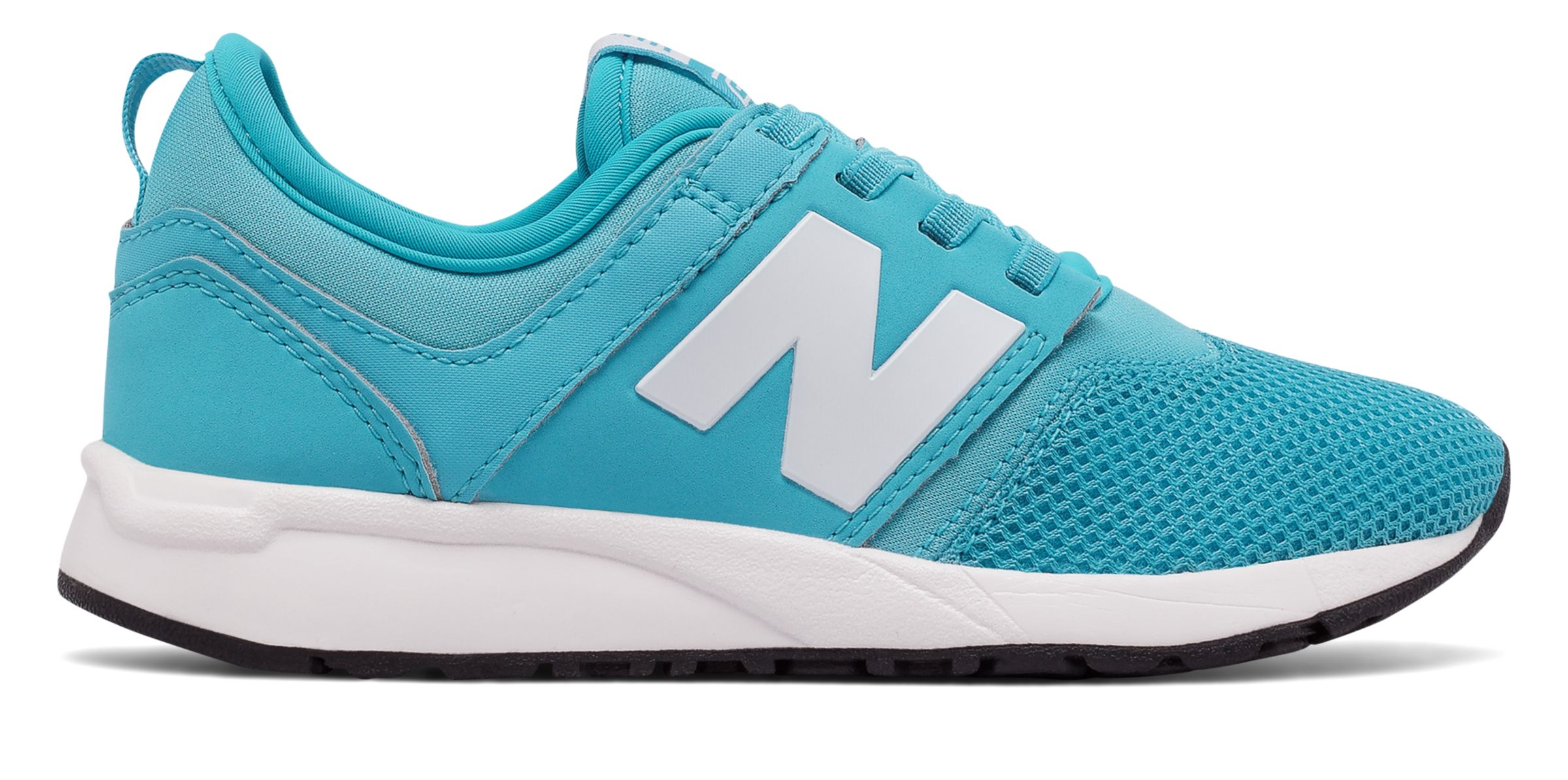 NB 247 New Balance, Light Blue with White