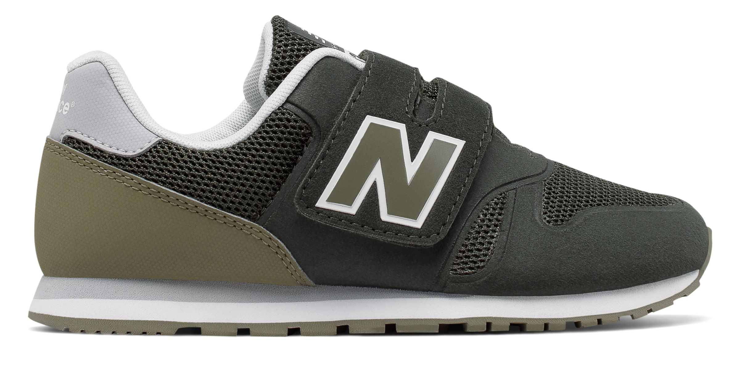 NB 373 New Balance, Green with Dark Green