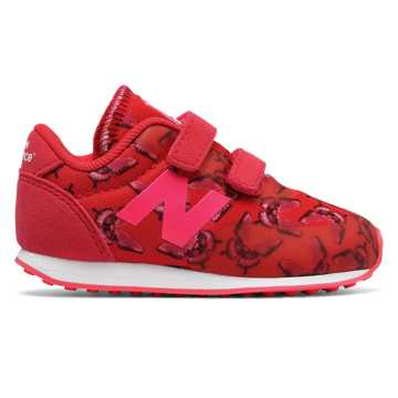 New Balance 410 Hook and Loop, Pink Glo