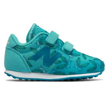 New Balance 410 Hook and Loop, Blue Atoll with Teal