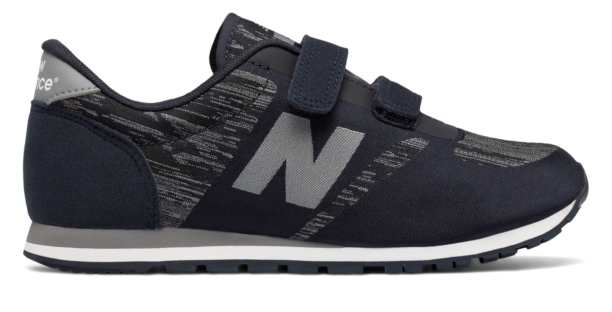 NB 420 Hook and Loop, Black with Grey