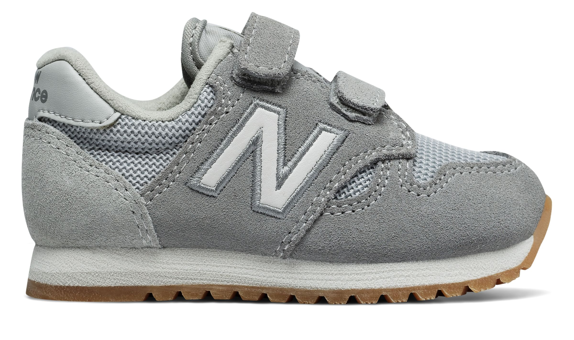 NB 520 Hook and Loop, Grey with White