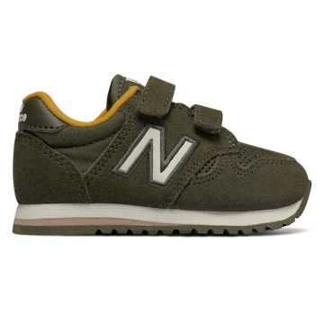 New Balance Hook and Loop 520, Military Green with Yellow