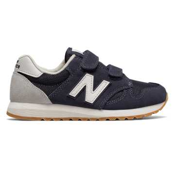 New Balance 520 Hook and Loop, Navy with White