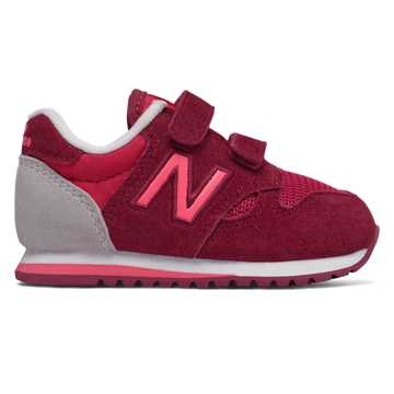 New Balance 520 Hook and Loop, Pink with Purple