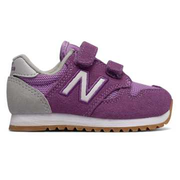 New Balance 520 Hook and Loop, Purple with White