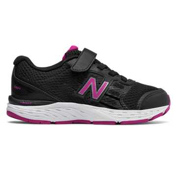 New Balance Hook and Loop 680v5, Black with Azalea