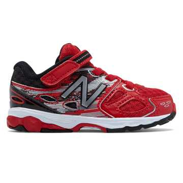 New Balance Hook and Loop 680v3, Red with Black