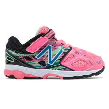 New Balance Hook and Loop 680v3, Pink with Black