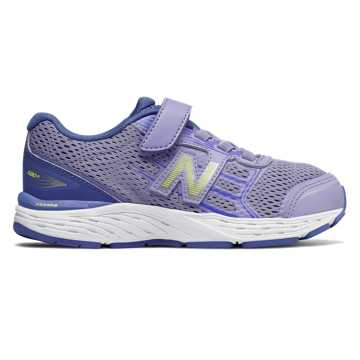 New Balance Hook and Loop 680v5, Ice Violet with Twilight