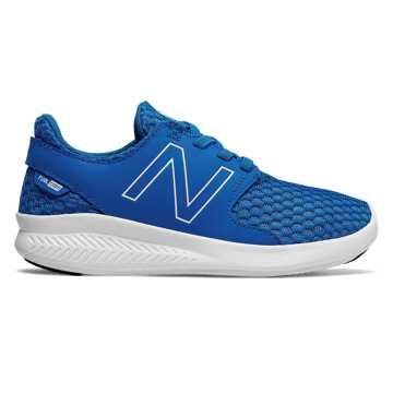 New Balance COAST系列 中童 跑步系列 松紧带式 透气鞋面, 蓝色