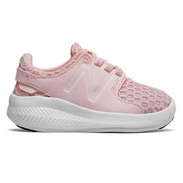 New Balance COAST系列 小童 跑步系列 松紧带式 透气鞋面, 肉粉色
