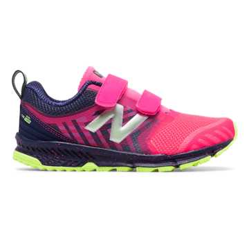 New Balance Hook and Loop FuelCore NITREL, Pink with Dark Grey & Energy Lime