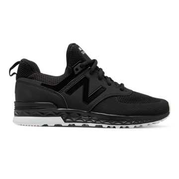 New Balance 574 Sport, Black with White