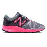 New Balance Electric Rainbow 200, Noir et gris & rose