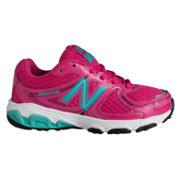 NB New Balance 680, Rosa mit Blaugrün und Weiß