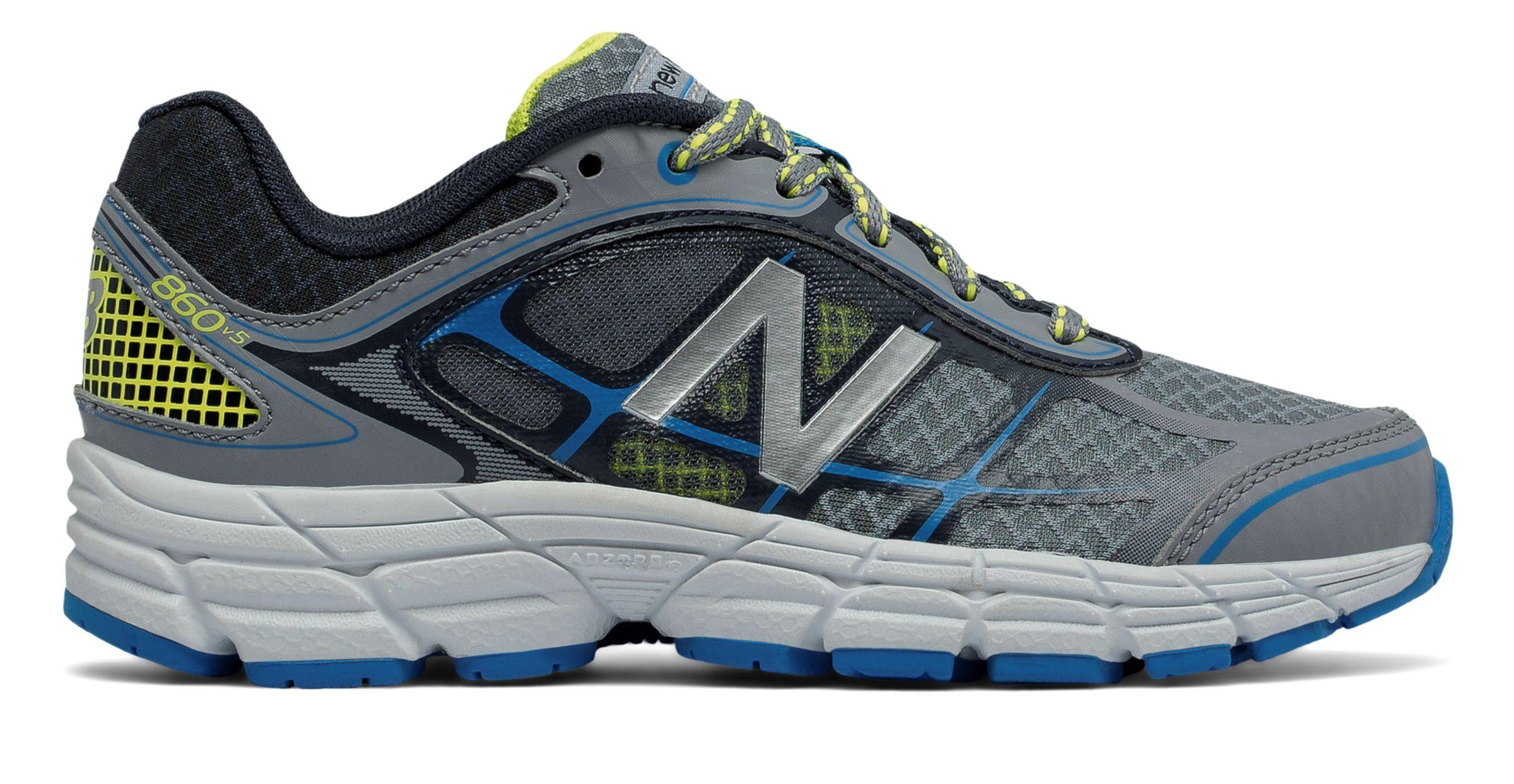 NB New Balance 860v5, Grey with Bolt & Yellow