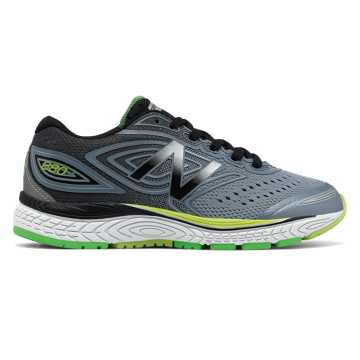New Balance 880v7, Grey with Black & Lime