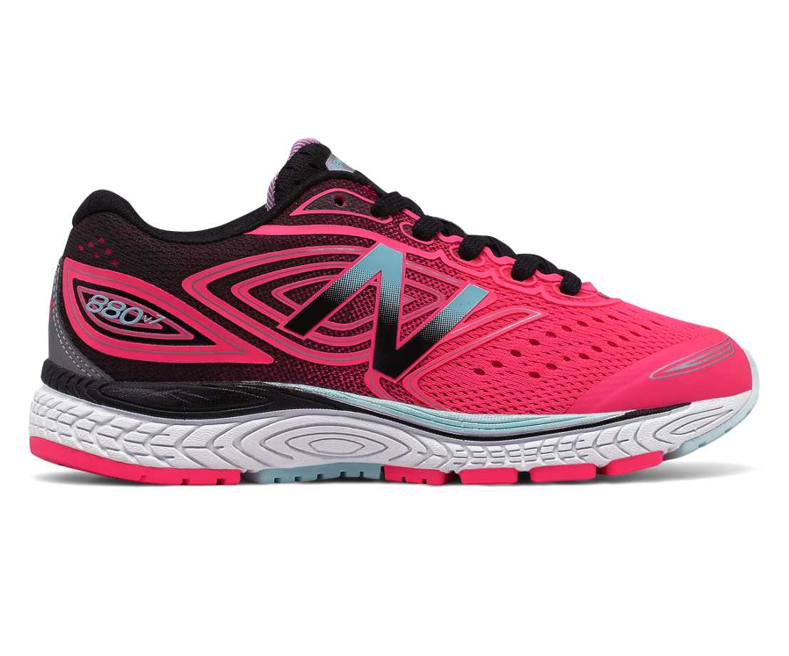New Balance 880v7, Hot Pink with Black & Light Blue
