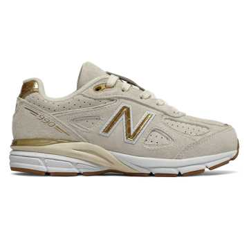 New Balance 990v4, Angora with Gold