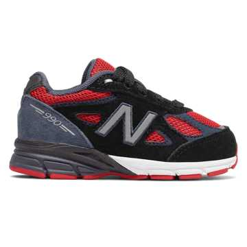 New Balance 990v4, Black with Red