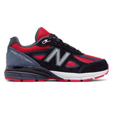 New Balance New Balance 990v4, Black with Red