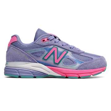 New Balance 990v4, Purple with Pink