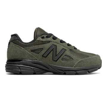 New Balance 990v4, Olive with Black