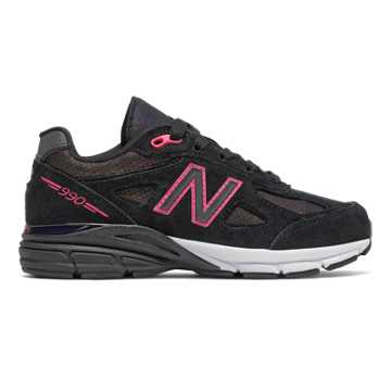 New Balance New Balance 990v4, Black with Multi Color & Pink