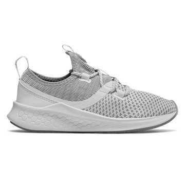 New Balance LAZR系列 大童 跑步系列 袜套设计 透气鞋面, 白色