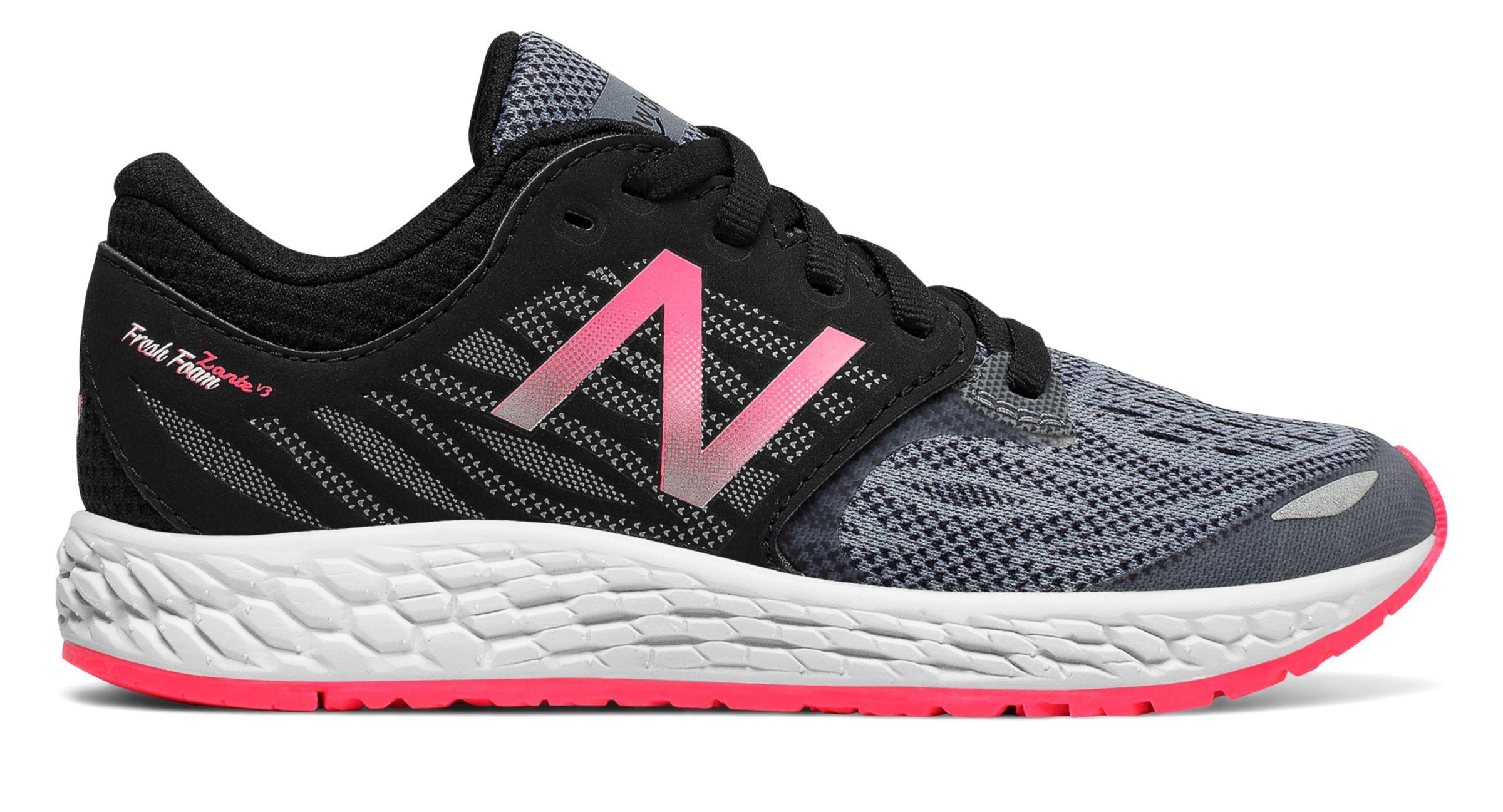 NB Fresh Foam Zante v3, Black with Alpha Pink & Grey