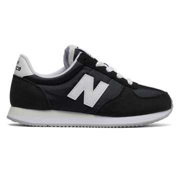 New Balance 220 New Balance, Black with White