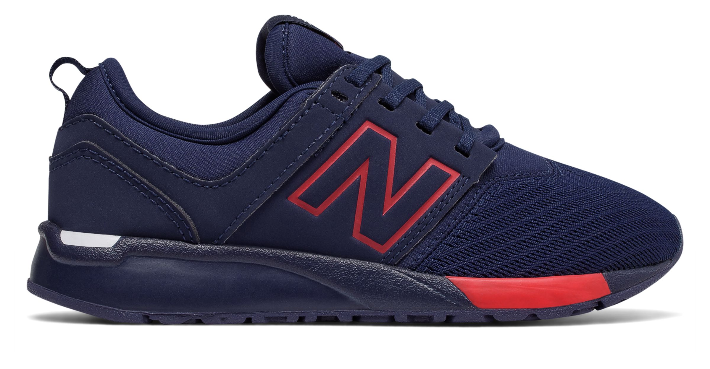 NB 247 Classic, Navy with Red
