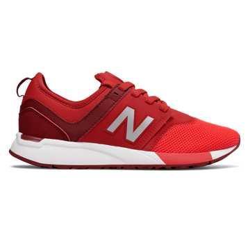 New Balance 全新247系列 大童款 网眼鞋面 一脚套式  橡胶大底, 红色