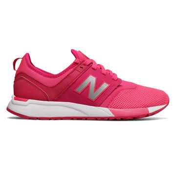 New Balance 全新247系列 大童款 网眼鞋面 一脚套式  橡胶大底, 枚红色