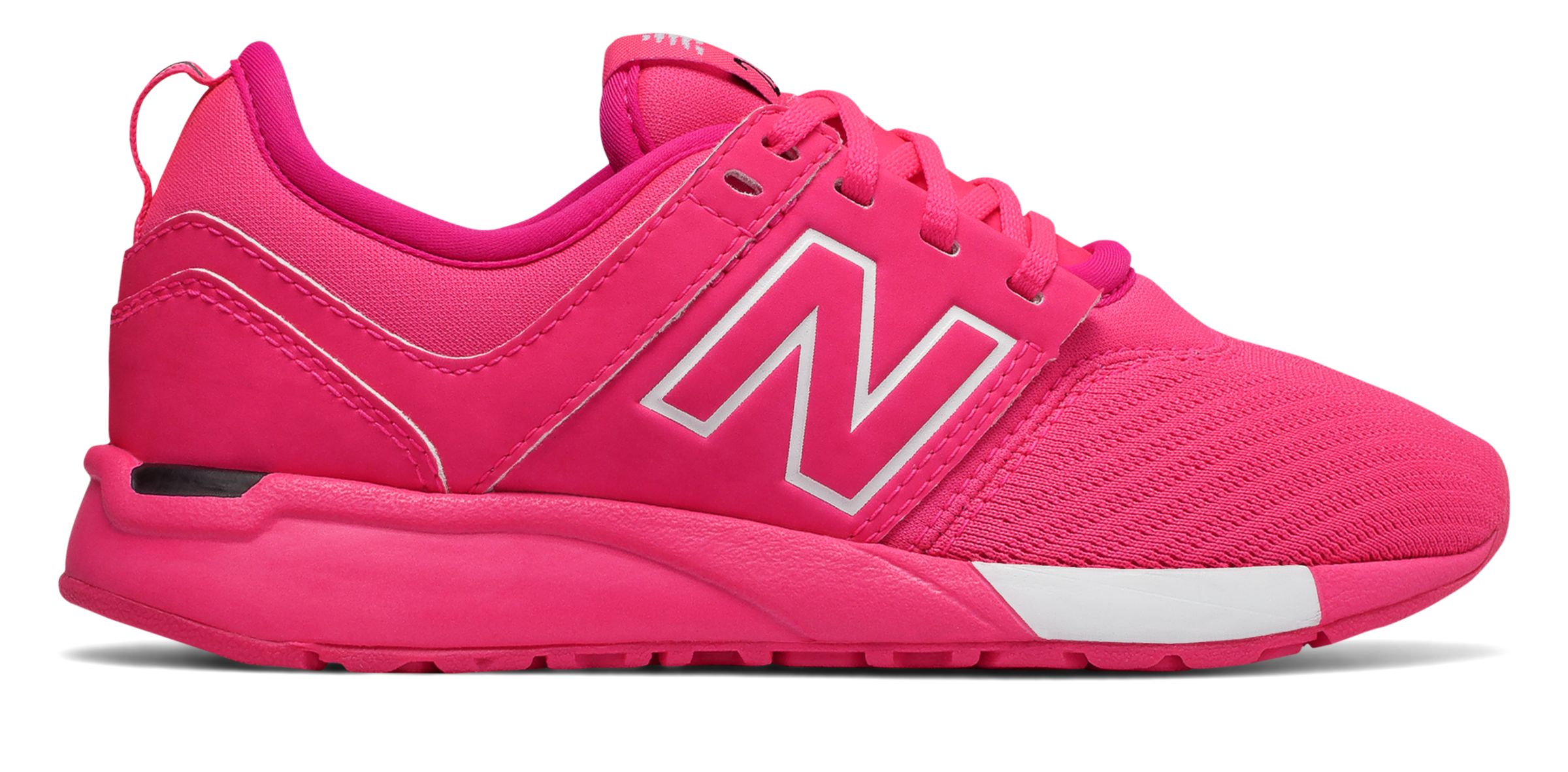 NB 247 Classic, Pink with White
