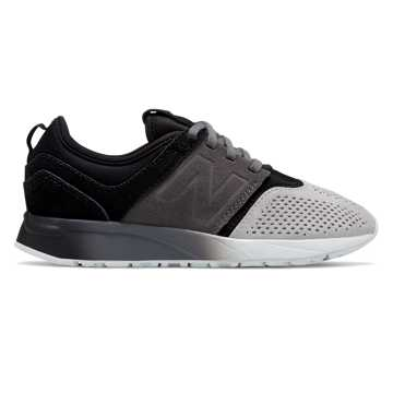 New Balance Suede 247, Black with Castlerock