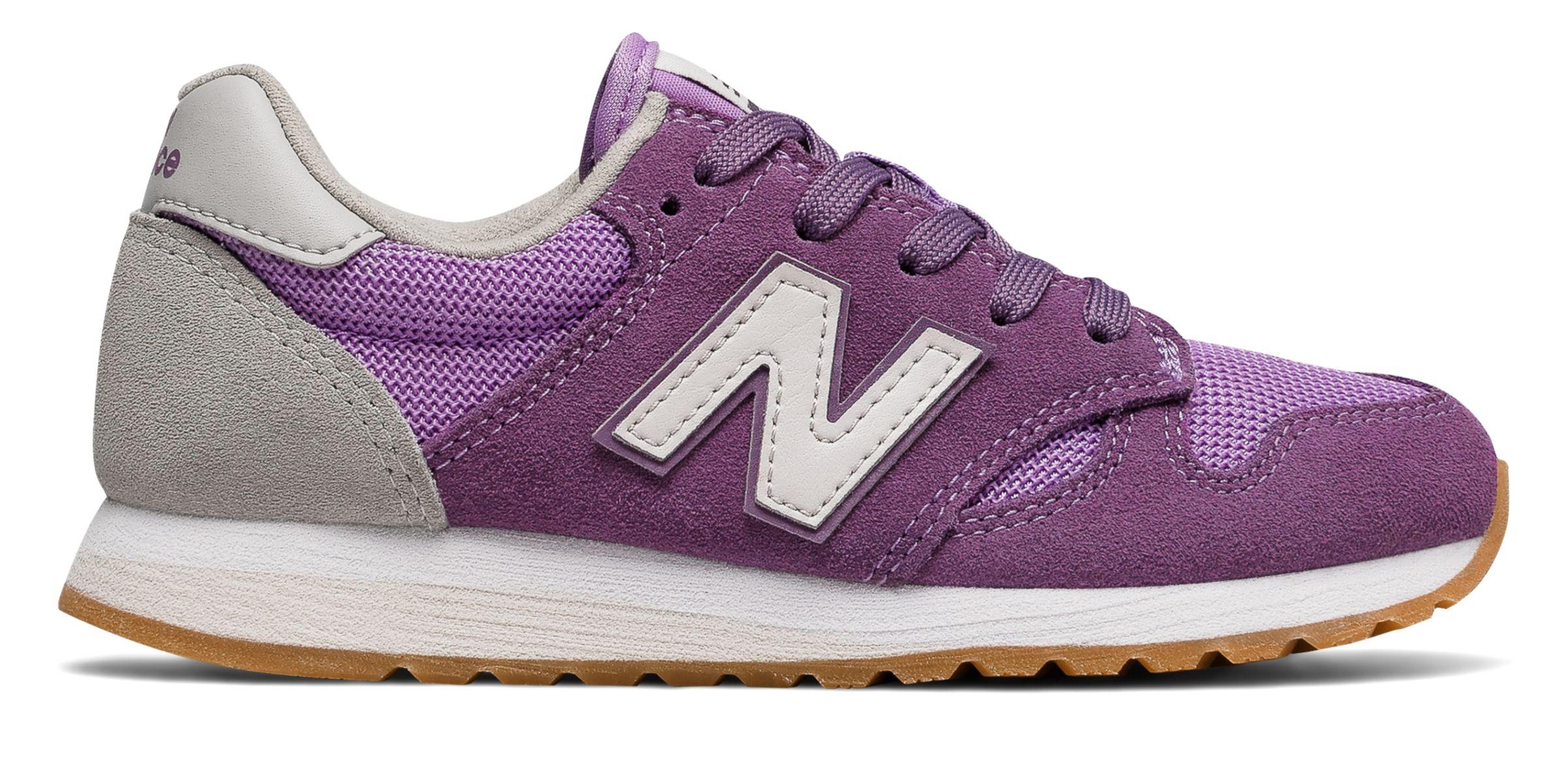 NB 520 New Balance, Purple with White