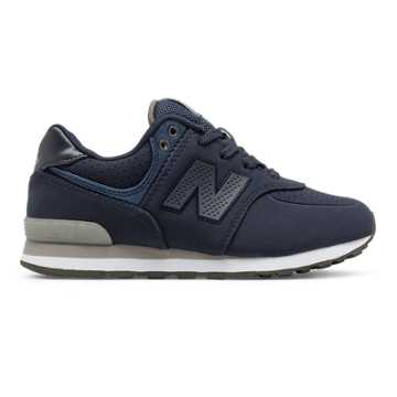 New Balance 574 Paint Chip, Navy with Grey