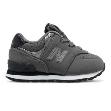New Balance 574 Paint Chip, Grey with Blue Rain