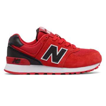 New Balance 574 High Visibility, Red with Black