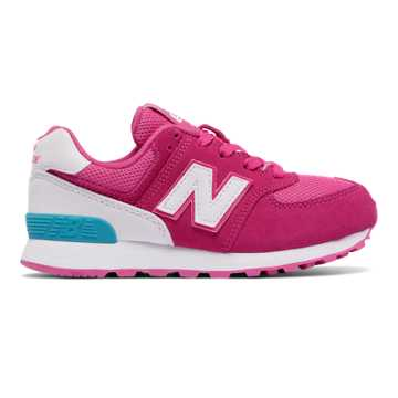 new balance pink. new balance 574 high visibility, pink flamingo with white