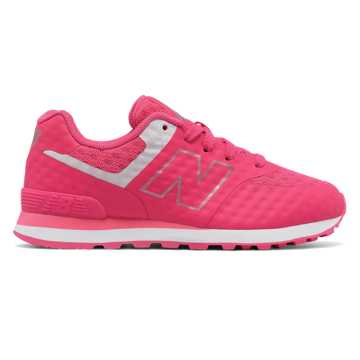 New Balance 574 Breathe, Pink with White