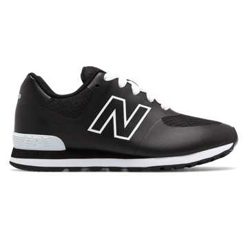 New Balance 574 Puddle Jumper, Black with White