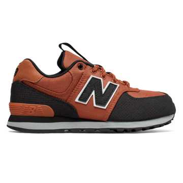 New Balance 574, Burnt Orange with Black