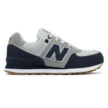 New Balance 574 Resort Sporty, Navy with Light Grey