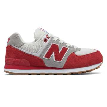 New Balance 574 Resort Sporty, Red with Light Grey