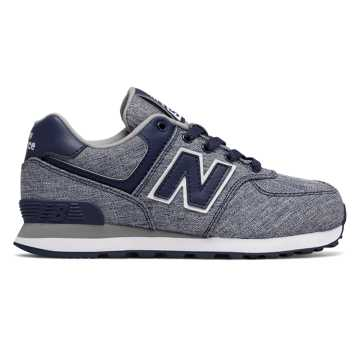 New Balance 574 Leisure, Blue with White